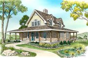 Cottage Style House Plan - 3 Beds 3 Baths 2398 Sq/Ft Plan #140-130 Exterior - Front Elevation