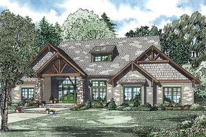 Craftsman Exterior - Front Elevation Plan #17-2445