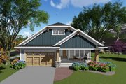 Ranch Style House Plan - 2 Beds 2 Baths 1588 Sq/Ft Plan #70-1264 Exterior - Front Elevation