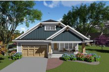 Dream House Plan - Ranch Exterior - Front Elevation Plan #70-1264
