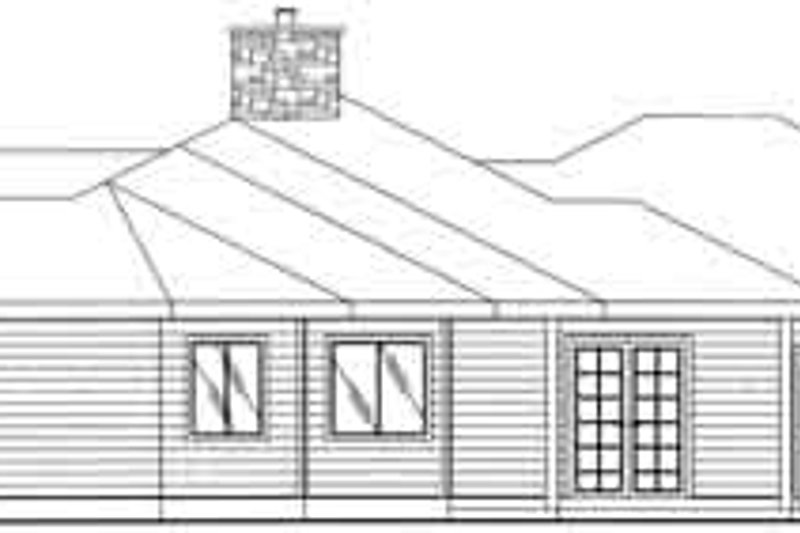 Traditional Exterior - Rear Elevation Plan #117-358 - Houseplans.com