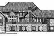 Traditional Style House Plan - 4 Beds 4.5 Baths 5752 Sq/Ft Plan #70-557 Exterior - Rear Elevation