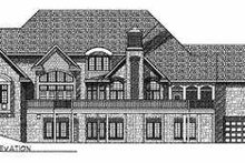 Dream House Plan - Traditional Exterior - Rear Elevation Plan #70-557