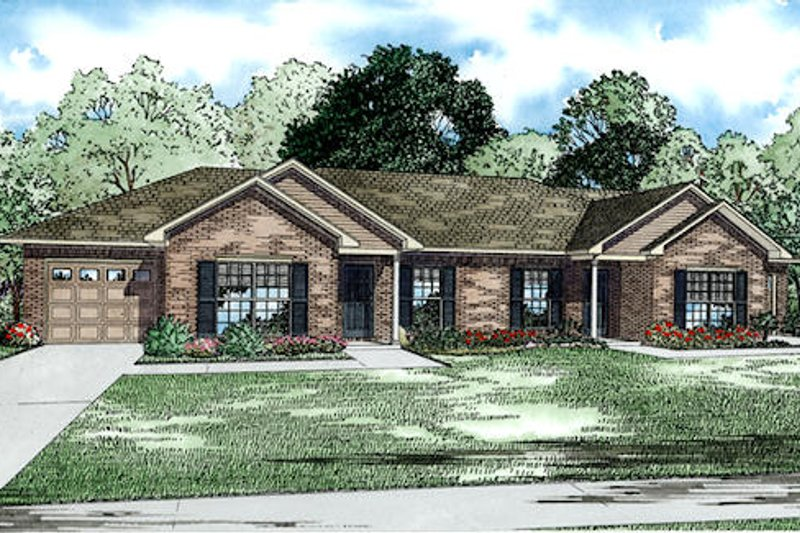 Traditional Style House Plan - 2 Beds 1 Baths 2024 Sq/Ft Plan #17-2432 Exterior - Front Elevation