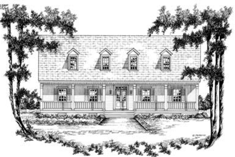 Country Style House Plan - 4 Beds 2.5 Baths 2649 Sq/Ft Plan #36-249 Exterior - Front Elevation