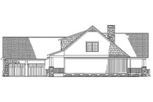 Architectural House Design - Right Side Elevation  BW