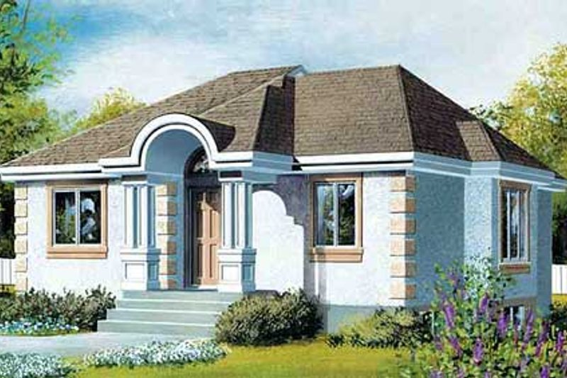 European Style House Plan - 2 Beds 1 Baths 1033 Sq/Ft Plan #25-4233 Exterior - Front Elevation