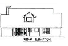 House Plan Design - Farmhouse Exterior - Rear Elevation Plan #40-328