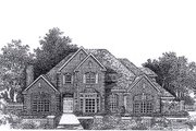 Colonial Style House Plan - 4 Beds 3.5 Baths 3830 Sq/Ft Plan #310-946 Exterior - Front Elevation