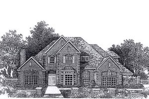 Colonial Exterior - Front Elevation Plan #310-946