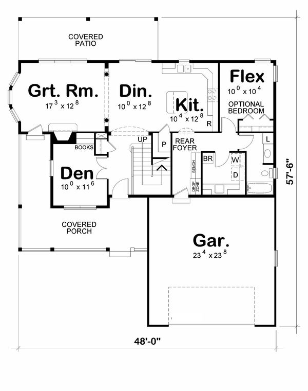 Traditional Floor Plan - Main Floor Plan Plan #20-2185