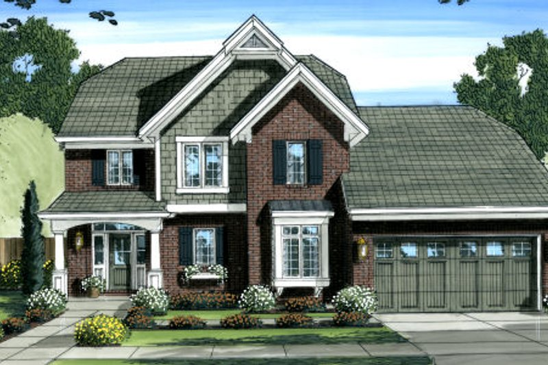 Country Exterior - Front Elevation Plan #46-447