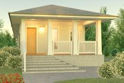 Bungalow Style House Plan - 2 Beds 2 Baths 1622 Sq/Ft Plan #926-2 Exterior - Front Elevation