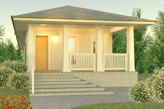 Bungalow Exterior - Front Elevation Plan #926-2