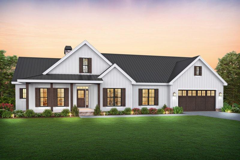 Dream House Plan - Farmhouse Exterior - Front Elevation Plan #48-1045