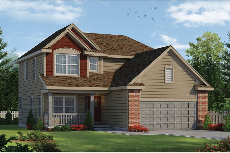 Architectural House Design - Traditional Exterior - Front Elevation Plan #20-1779