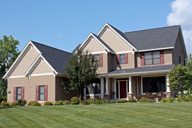 Traditional Style House Plan - 4 Beds 2.5 Baths 2802 Sq/Ft Plan #51-493 Exterior - Front Elevation