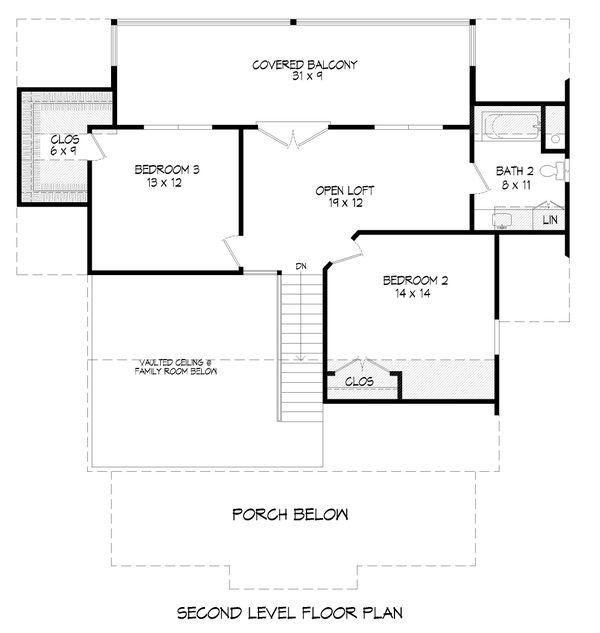 Traditional Floor Plan - Upper Floor Plan #932-333
