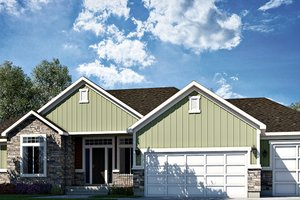 Dream House Plan - Traditional Exterior - Front Elevation Plan #1073-12