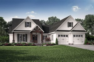 Country Exterior - Front Elevation Plan #430-193