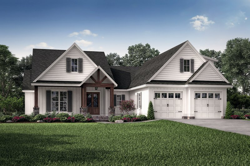 Country Style House Plan - 3 Beds 2 Baths 2074 Sq/Ft Plan #430-193 Exterior - Front Elevation