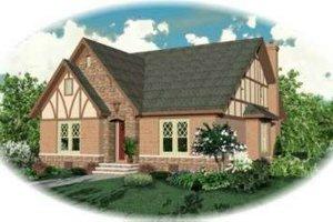 Tudor Exterior - Front Elevation Plan #81-431