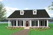 Ranch Style House Plan - 3 Beds 2 Baths 1716 Sq/Ft Plan #44-101 Exterior - Front Elevation