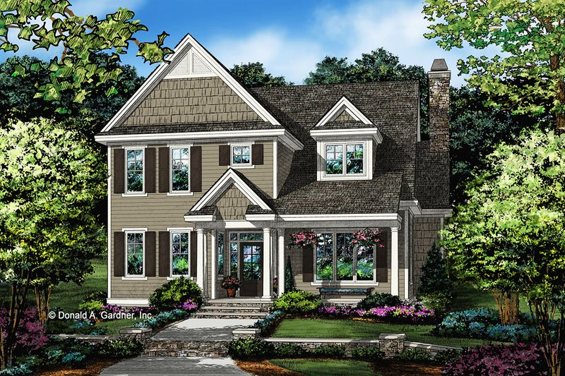 Architectural House Design - Traditional Exterior - Front Elevation Plan #929-1073