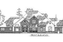 House Plan Design - European Exterior - Front Elevation Plan #5-222