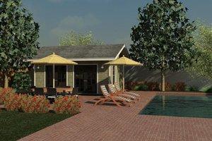 Cottage Exterior - Front Elevation Plan #499-1