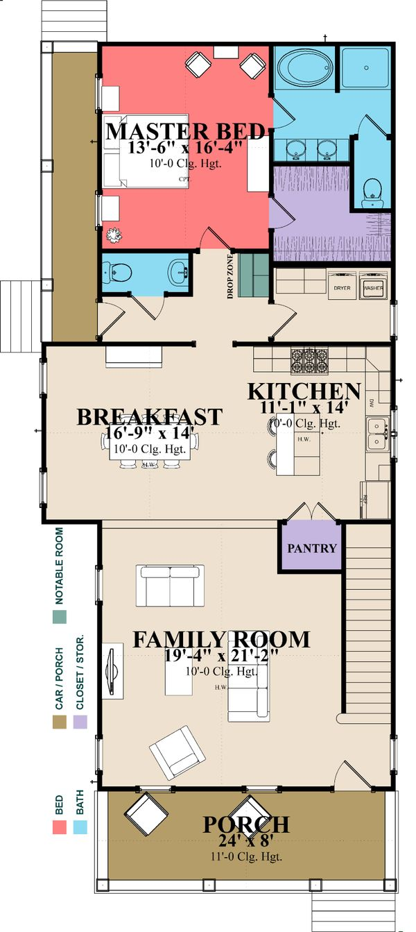 Home Plan - Farmhouse Floor Plan - Main Floor Plan #63-378