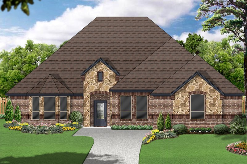 Traditional Exterior - Front Elevation Plan #84-588 - Houseplans.com