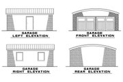 Modern Style House Plan - 4 Beds 2 Baths 2005 Sq/Ft Plan #923-83 Exterior - Other Elevation