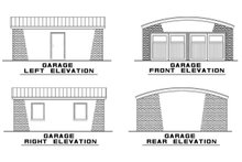 Architectural House Design - Garage Elevations