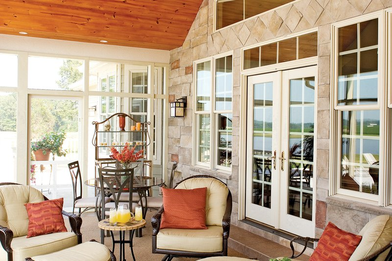 Country Exterior - Outdoor Living Plan #929-13 - Houseplans.com
