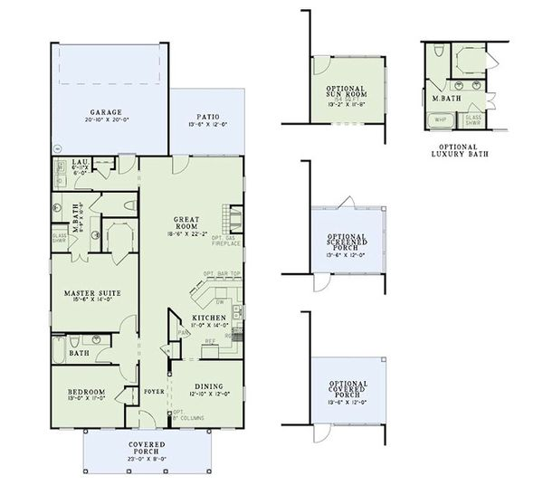 Traditional Floor Plan - Main Floor Plan Plan #17-2422