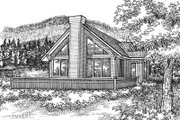 House Plan - 3 Beds 2 Baths 1451 Sq/Ft Plan #50-120 Exterior - Front Elevation