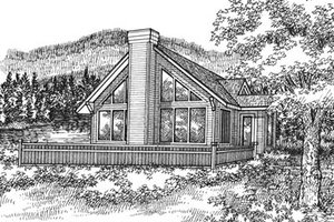 Exterior - Front Elevation Plan #50-120
