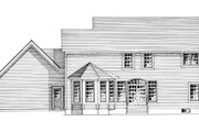 Colonial Style House Plan - 4 Beds 2.5 Baths 2617 Sq/Ft Plan #316-124 Exterior - Rear Elevation