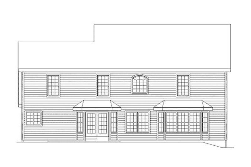 Colonial Exterior - Rear Elevation Plan #57-274 - Houseplans.com