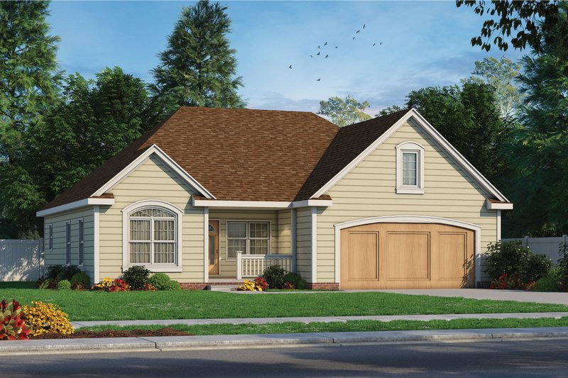 Home Plan - Traditional Exterior - Front Elevation Plan #20-2371