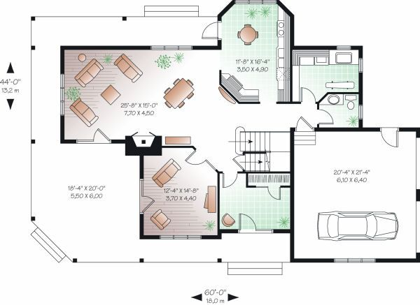 Traditional Floor Plan - Main Floor Plan Plan #23-871