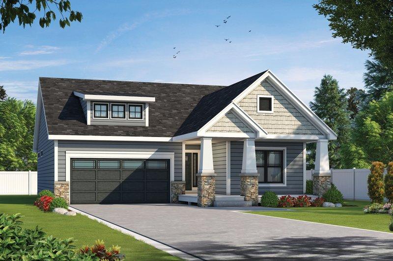 Architectural House Design - Cottage Exterior - Front Elevation Plan #20-2399