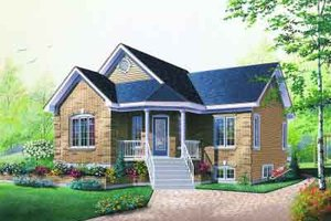 Cottage Exterior - Front Elevation Plan #23-596