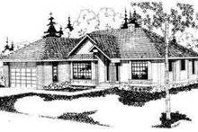 Exterior - Front Elevation Plan #124-105