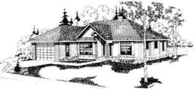 Exterior - Front Elevation Plan #124-105