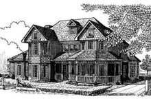 Victorian Exterior - Front Elevation Plan #410-197