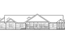 Dream House Plan - Country Exterior - Rear Elevation Plan #60-653