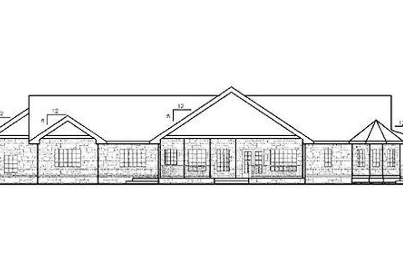 Country Exterior - Rear Elevation Plan #60-653 - Houseplans.com