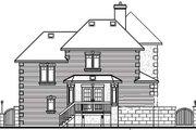 European Style House Plan - 3 Beds 2.5 Baths 1759 Sq/Ft Plan #23-2087 Exterior - Rear Elevation